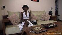 Young & Beautiful African Teen Sucks Older White Man's Cock thumbnail