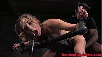 Bondage submissive spitroasted by maledoms video