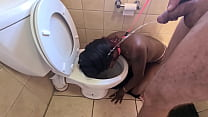 Desi Whore Gets Walked Like A Dog To The Toilet