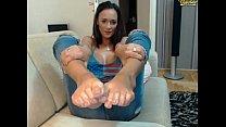 Cute feet and ass video