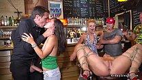 Naked Serbian slut pissing in public bar صورة