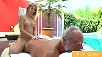 Teen getting Fucked by Grandpa after Massage