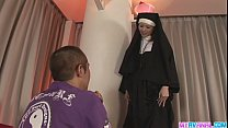 Unholy nun fucking Rika Sakurai gets it in the ass pornhub video