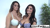 Alison Tyler & Romi Rain fuck each other for th...