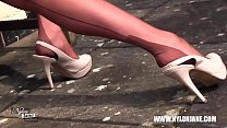 Milf teases in nylons suspenders heels pornhub video