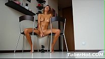 TuberHot.COM - Hot cam Girl Squirting on chair Preview