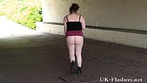 Bbw amateur babe Charlies public nudity and mas...
