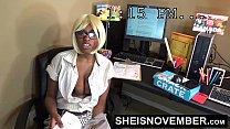 Amateur Ebony Msnovember Fucking Boss On Desk At Work To Keep Her Job Sex & Head صورة