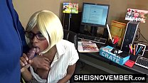16376 Amateur Ebony Msnovember Fucking Boss On Desk At Work To Keep Her Job Sex & Head preview