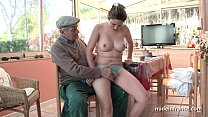 Nice titted french brunette banged by Papy Voyeur's Thumb