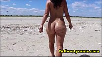 Big Butt Milf at Beach - fatbootycams.com