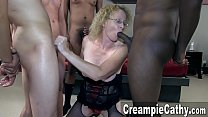Creampie Gangbang For Mature MILF Thumbnail