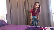 Small horny Thai girl fucked hard by Japanese guy
