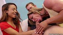 seemom-Mother-daughter blowjob video