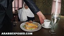 Screenshot ARABSEXPOSED  - Hungry Woman Gets Food and Fuck ...