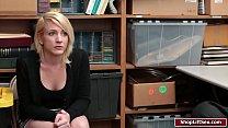 Blonde Shoplifter Fucked Hard By Officer