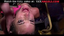 Tattooed fishnet slut hard punishment! (Angel Long , Alexxa Vice , Frank Crass) صورة