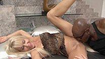 Hot sexy whore Erica Lauren gets a fuck as she licks a hot babe Tara Lynn Foxx' pussy thumbnail