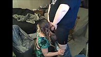 Tranny Blowing A Fat Guy And Takes A Facial