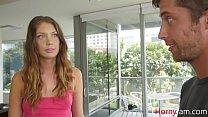 BROTHER gets hard looking at  Sister's camel toe- Elena Koshka