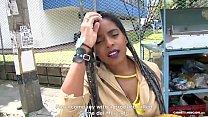 CARNE DEL MERCADO - Colombiana de tetas grandes Ana Ebano recogida y follada