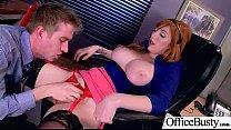 (Lauren Phillips) Round Huge Tits Office Girl Enjoy Hard Intercorse clip-17 صورة