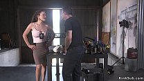 Busty parole officer tied up and anal fucked