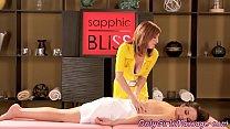 Hairy masseuse scissoring her customer thumbnail