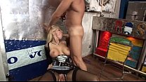 Wonderful blonde banged in a fast food preview image