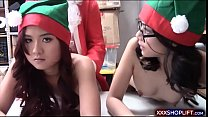 Santa fucks two cute shoplifter teens pornhub video