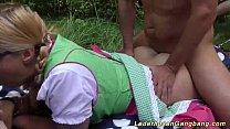 outdoor lederhosen gangbang orgy pornhub video