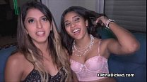 Sofia assists hot bff at fucking video