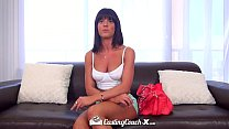 HD CastingCouch-X - Brunette Rahyndee James with perky tits wants to fuck صورة