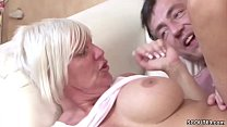 Big Tit German MILF seduce Young Guy agent to Fuck thumb