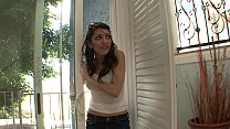 Small tits brunette MILF gets fucked really rou...