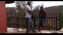 2 Africans are abused and suck cock in the rains-3
