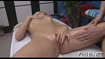 Undressed oil massage