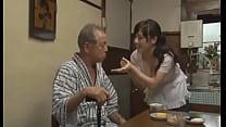 Sexy Azusa Nagasawa has sex with two lucky old men