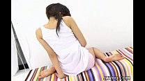 Pretty Japanese teen solo masturbation Uncensored thumbnail