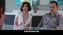 Big tit step aunt fucks step nephew and almost ...