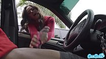 Dick Flash! Cute Teen Gives Me Hand Job in Public Parking Lot after She Sees My Big Black Cock Vorschaubild