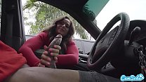 Dick Flash! Cute Teen Gives Me Hand Job in Public Parking Lot after She Sees My Big Black Cock thumbnail