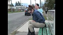 Ineed2pee - Desperation Piss Wetting Alex Janessa Bus Stop Embaressment