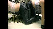 Lesbians leatherpants  cumming MIX 01