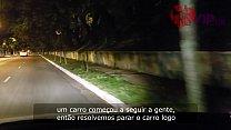 10662 Cristina Almeida com desconhecidos no estacionamento da lojas Americanas em São Paulo, acompanhada do corno do marido que filma sua esposa safada - Dogging 3 - Parte 1/2 preview