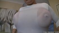 Big tits English milf wet boobs