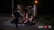 Lesbian cops get a black suspect's dick
