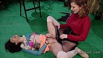 Lesbian bartender spanked and analed image