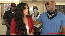 Sexy biatch Danica Dillion DPed by massive blac...