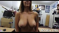 Bimbo non-professional is drilled